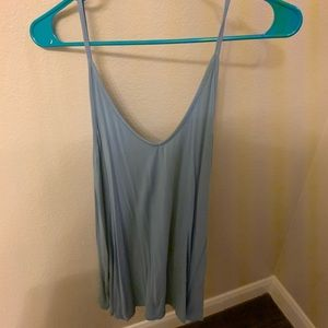 Blue loose fitting tank top